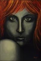 """Título: (Sin título)Serie: Retratos """"Black&White""""Año: 2011Tamaño: 65x45 cmTécnica: acrílico y oleo sobre lienzo"""