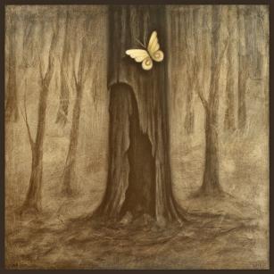 Número: 10Título: Stratum cinerum Opus 32 w Técnica: Carbón y óleo sobre tela Tamaño: 100x100 cm Año: 2016