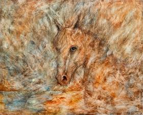 Número: 1Título: Ocaso equináceo Técnica: Óleo sobre lienzo Tamaño: 162x130 cm Año: 2016