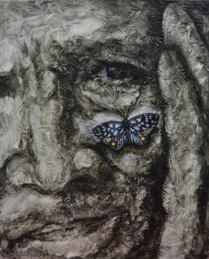 Número: 17 Título: Papillon Técnica: Mixta (látex y óleo) Tamaño: 73x60 cm